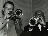 Humphrey Lyttelton and Sidney Bechet at Colston Hall, Bristol, 1956 Photographic Print by Denis Williams