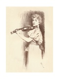 A Violinist, C1898 Giclee Print by Fernand Khnopff