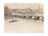 The Pont Neuf, 1915 Giclee Print by Eugene Bejot