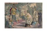 Queen Philippa Interceding with Edward III for the Six Burgesses of Calais, 1850 Giclee Print by John Leech