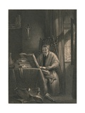 Don Quixote in His Study, 1831 Giclee Print by Richard Parkes Bonington