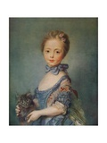 A Girl with Kitten, C1743 Giclee Print by Jean-Baptiste Perronneau