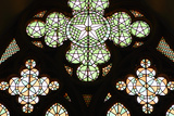 Stained Glass Window, Lala Mustafa Pasha Mosque, Famagusta, North Cyprus Photographic Print by Peter Thompson