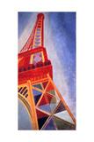 The Eiffel Tower, 1926 Giclée-tryk af Robert Delaunay