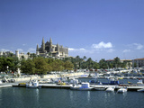 Palma Cathedral and Harbour, Majorca, Spain Photographic Print by Peter Thompson