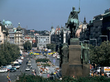 Wenceslas Square, Prague, Czech Republic Photographic Print by Peter Thompson