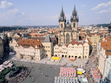 Old Town Square and Tyn Church, Prague, Czech Rebublic Photographic Print by Peter Thompson