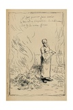 Peasant Burning Weeds, 19th Century Giclee Print by Jean Francois Millet