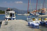 Quayside, Fiskardo, Kefalonia, Greece Photographic Print by Peter Thompson