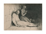 Christian and Hopeful in the Dungeon, C1916 Giclee Print by William Strang