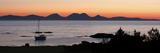 Sunset over Jura Seen from Kintyre, Argyll and Bute, Scotland Giclee Print by Peter Thompson