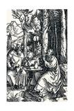 The Hermits St Anthony and St Paul, 1504 Reproduction procédé giclée par Albrecht Dürer