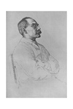 Portrait of Rudyard Kipling, 1898, Giclee Print by William Strang