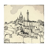 Montmartre and the Sacré-Coeur, 1915 Giclee Print by Jessie Marion King