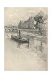 Le Quai Des Orfevres, 1915 Giclee Print by Eugene Bejot