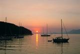 Sunset, Cavtat, Croatia Photographic Print by Peter Thompson