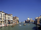 The Grand Canal and San Salute from Accademia Bridge, Venice, Italy Photographic Print by Peter Thompson