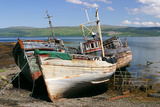 Old Fishing Boats, Near Salen, Mull, Argyll and Bute, Scotland Photographic Print by Peter Thompson