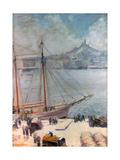 Marseille Quay, 1929 Giclee Print by Emile Bernard