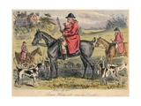 Simon Heavy - Side and His Hounds, 1865 Giclee Print by Hablot Knight Browne