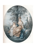 Lady Rushout and Her Daughter, 1784, (1902) Giclee Print by Thomas Burke