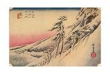 Clear Weather after Snow at Kameyama, from 53 Stations of Tokaido, (1832), 1903 Reproduction procédé giclée par Ando Hiroshige