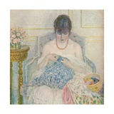 A Girl Sewing, C1894-1914, (1914) Giclee Print by Frederick Carl Frieseke