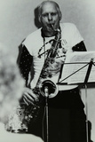 Saxophonist Don Rendell Playing at Campus West, Welwyn Garden City, Hertfordshire, 1986 Photographic Print by Denis Williams