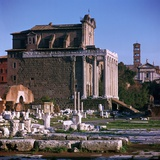 Temple of Antoninus and Faustina Photographic Print by CM Dixon