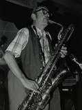 Baritone Saxophonist Pepper Adams Playing at the Red Lion, Hatfield, Hertfordshire, 20 August 1979 Reproduction photographique par Denis Williams