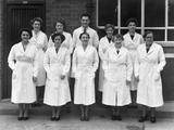 Staff from Schonhuts Butchery Factory, Rawmarsh, South Yorkshire, 1955 Photographic Print by Michael Walters