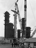 Erecting an Absorption Tower, Coleshill Coal Preparation Plant, Warwickshire, 1962 Photographic Print by Michael Walters