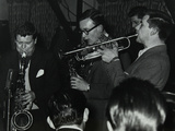 The Tubby Hayes Sextet Playing at a Modern Jazz Night at the Civic Restaurant, Bristol, 1955 Photographic Print by Denis Williams