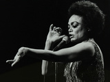 Eartha Kitt Performing at the Forum Theatre, Hatfield, Hertfordshire, 20 March 1983. Photographic Print by Denis Williams