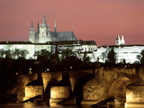 Prague Castle and St Vitus Cathedral, Czech Republic Photographic Print by Peter Thompson