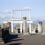Columns of the Colonnade Round the Forumdanc, Pompeii, Italy Photographic Print by CM Dixon