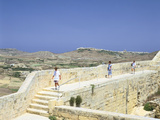 The Path around the Walls of the Citadel, Victoria, Gozo, Malta Photographic Print by Peter Thompson