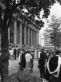University Graduates Outside Sheffield City Hall, South Yorkshire, 1967 Photographic Print by Michael Walters