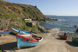 Boats on the Slipway at Cape Cornwall, Cornwall Photographic Print by Peter Thompson
