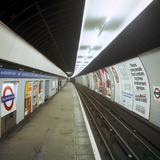 Empty Tube Station, Blackhorse Road on the Victoria Line, London, 1974 Photographic Print by Michael Walters
