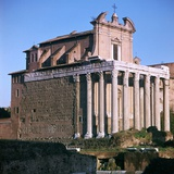 Temple of Antoninus and Faustina, 2nd Century Photographic Print by CM Dixon