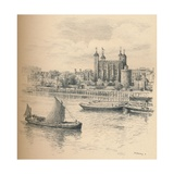 The Tower of London from Tower Bridge., 1902 Giclee Print by Thomas Robert Way