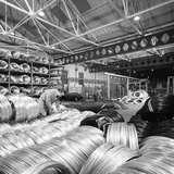 Coils of Steel Wire, Tinsley Wire Co, Sheffield, South Yorkshire, 1972 Photographic Print by Michael Walters