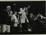 Sidney Bechet (Soprano Saxophone) and Humphrey Lyttelton Playing at Colston Hall, Bristol, 1956 Photographic Print by Denis Williams