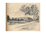 The Garden Fronts of Hampton Court Palace, 1902 Giclee Print by Thomas Robert Way
