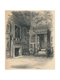 Queen Annes Bedchamber, Hampton Court Palace, 1902 Giclee Print by Thomas Robert Way