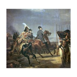 Painting of Napoleon at the Battle of Jena, 19th Century Giclee Print by Horace Vernet