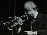 Trumpeter Kenny Baker Playing at the Forum Theatre, Hatfield, Hertfordshire, 1978 Photographic Print by Denis Williams
