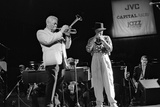 Dizzy Gillespie and Chuck Mangione, Royal Festival Hall, London, 1988 Reproduction photographique par Brian O'Connor
