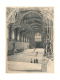 Interior of Westminster Hall, Westminster Palace, 1902 Giclee Print by Thomas Robert Way